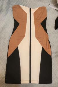 Mini sukienka z zamszowymi wstawkami...