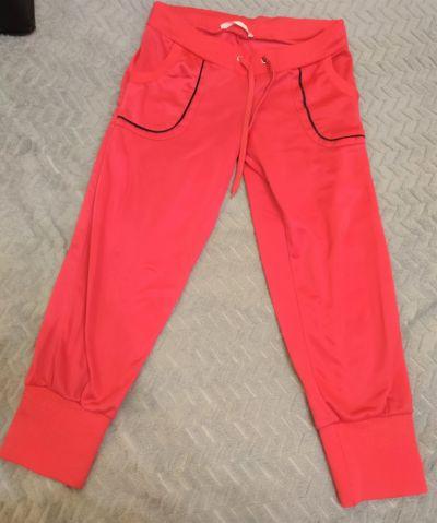 Dresy różowe spodnie dresowe S
