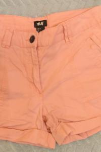 Różowe szorty H&M...