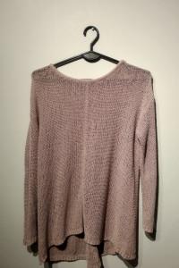 Oversizowy ażurowy sweterek r38...