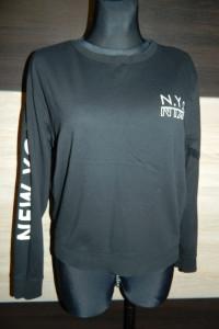 Divided by H&M czarna bluza nadruk roz 38...