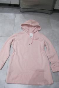 bluza blogerska oversize H&M różowa XS kangurek