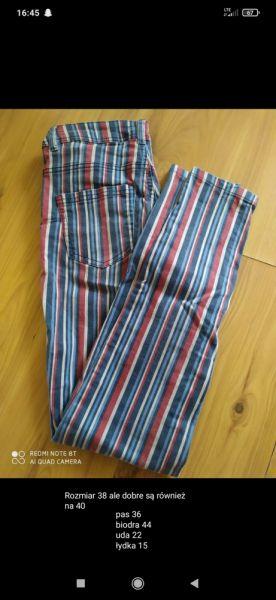Spodnie Jeansy w paski Cropp