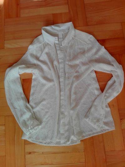 Koszule Biała koszula M zwiewna zdobiona