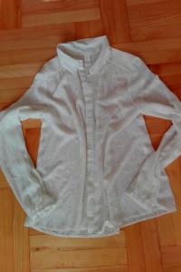 Biała koszula M zwiewna zdobiona