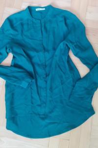 Zielona butelkowa zwiewna koszula L 40