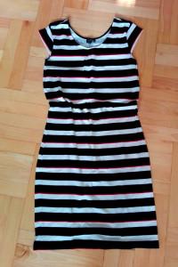 Sukienka marynarska w paski reserved M 38