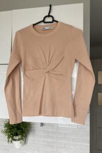 Zara nowy cienki sweter nude cielisty...