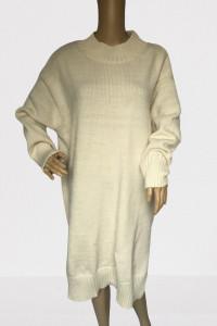 Sweter Kremowy Oversize Sukienka H&M XL 42 Golf Wełna...