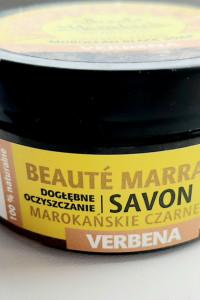Marokańskie czarne mydło o zapachu verbeny...
