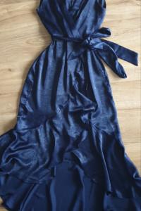 Nowa granatowa sukienka z metkami Flounce London rozmiar 38...