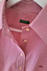 Koszula w różowe prążki M Benetton...