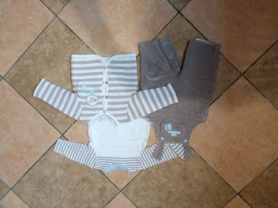 Spodnie i spodenki Ogrodniczki t shirt z długim rękawem i ciepła bluza z Francji 62 cm