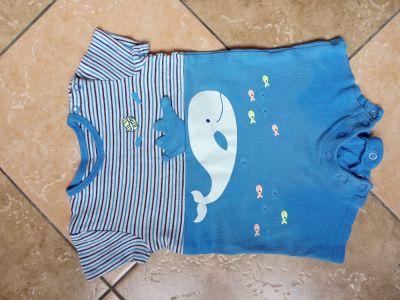 Koszulki, podkoszulki Rampers kombinezon letni chłopięcy z Pepco rozmiar 74 9 miesięcy