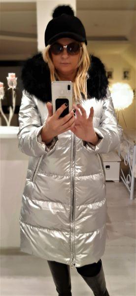 Odzież wierzchnia Płaszcz puchowy z naturalnym Lisem L