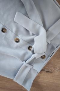 Spódnica krótka mini jasnoniebieski niebieski zamszowa rozmiar ...