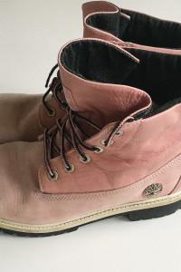 Trapery Buty Timberland 38 Różowe Róż 24 cm Zimowe