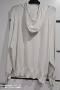 Bluza sweterkowa z kapturem biała...