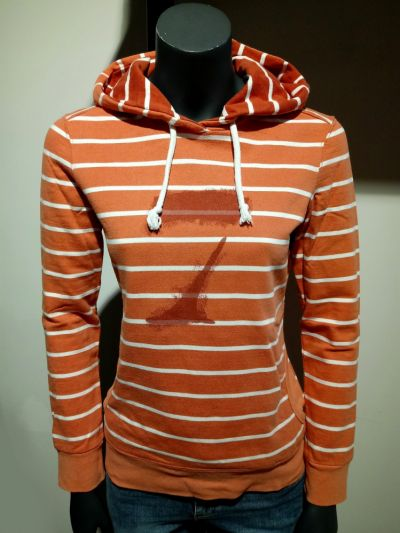 Bluzy Pomarańczowa Bluza w paski S Reporter