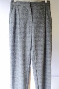 Spodnie Kratka Melanż Mango Suit 38 Proste Nogawki...