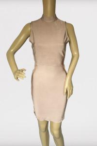 Sukienka Bandażowa Brudny Róż S 36 Missguided Sznurki...