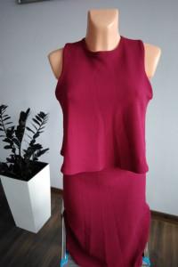Elegancja burgundowa sukienka Atmosphere r 40...
