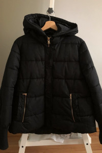 zara basic women winter kurtka puchowa płaszcz trf...