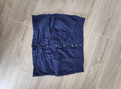 Spódnice Spódnica krótka granatowy czarny guziki rozmiar S