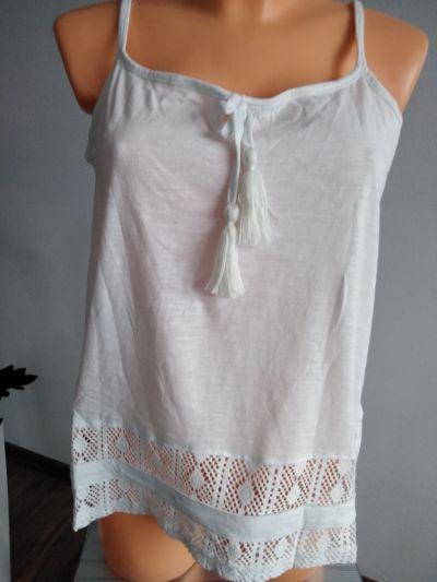 Bluzki Biała bluzka z ażurkiem r M