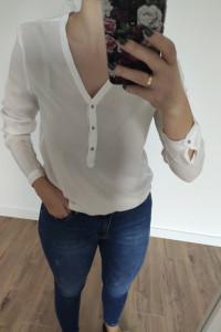 Bluzka koszula długi rękaw biały rozmiar S...