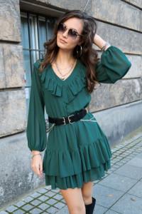 Rozkloszowana sukienka 3 kolory S M L...