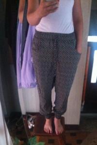 Szerokie spodnie alladynki haremki Dresy etniczne wzory wygodne...