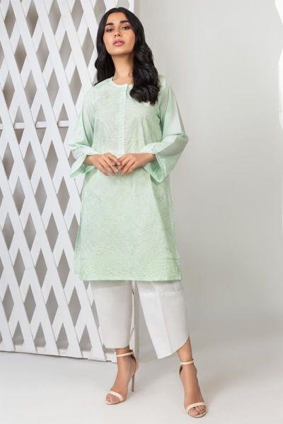 Tuniki Nowa tunika indyjska XXL 44 bawełniana pastelowa zielona miętowa kameez kurta Bollywood haft