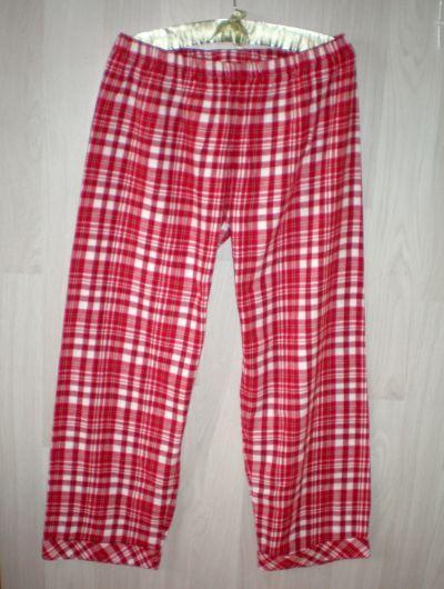 Piżamy ciepłe spodnie do spania kratka 42
