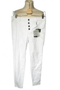 Spodnie NOWE Białe L 40 Rurki Vila Biel Tregginsy...