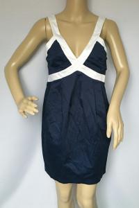 Sukienka NOWA Granatowa Elegancka M 38 Lipsy London...