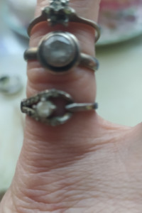 Srebro pierścionki