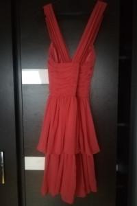 Koralowa sukienka rozmiar S...