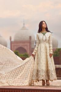 Nowa kremowa złota suknia L 40 indyjska balowa boho ślubna suki...
