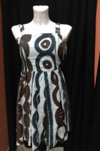 Sukienka lniana len letnia brązowo biała Zara XS 34...
