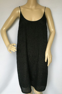 Sukienka Mango Suit L 40 Czarna Oversize Włochata Luzna...