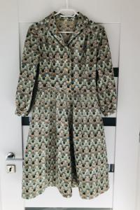 Sukienka MIDI rozkloszowana S 36 M 38