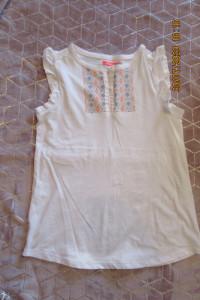 Żółta Niebieska Biała bluzki dla dziewczynki nastolatki Smyk 158 164