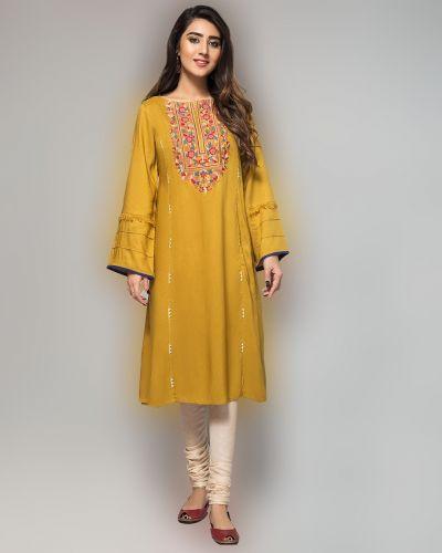 Tuniki Nowa sukienka tunika indyjska M 38 L 40 oliwkowa haft wiskoza boho hippie Bollywood kameez kurta