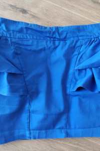 Spódnica krótka falbany niebieski chaber rozmiar L...