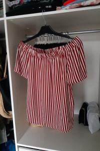 H&M nowa Bluzka z odkrytymi ramionami paski...