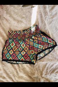 Kolorowe szorty azteckie wzory M...