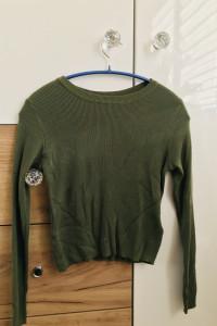 Cienki sweterek oliwkowy XS