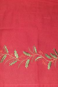 Bieżnik świąteczny czerwony 120x40