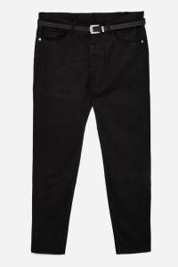Spodnie męskie czarne z wzorem w materiale Zara Man EUR42...